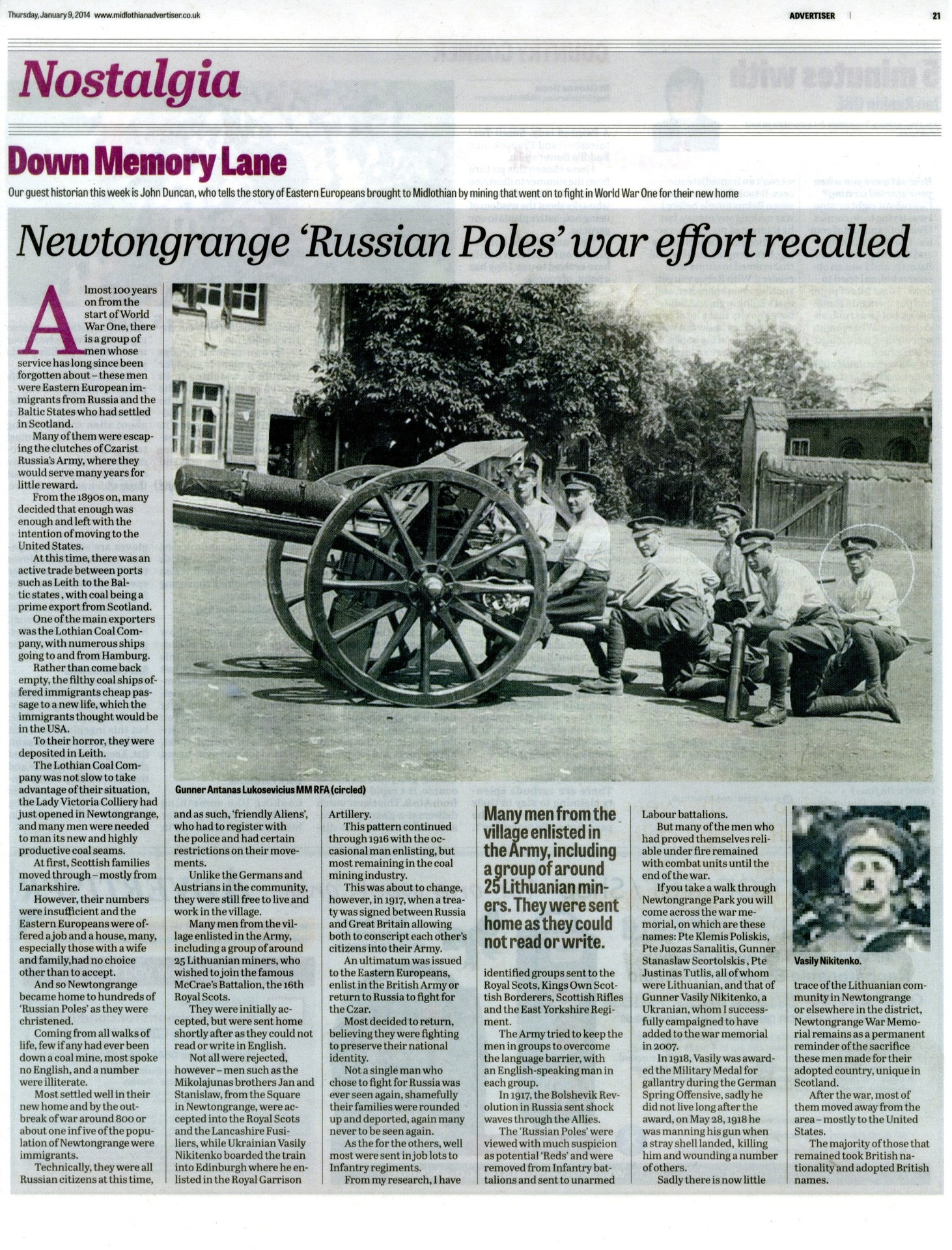 The 'Russian Poles' of Newtongrange